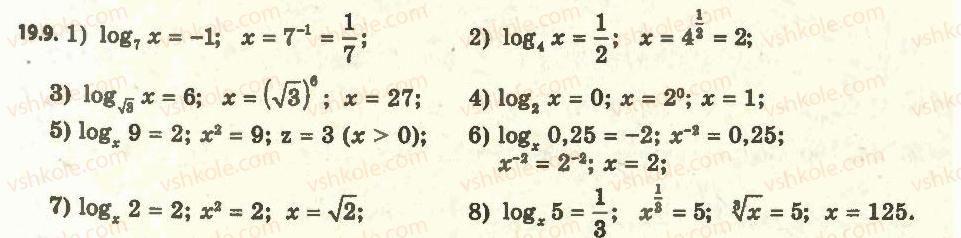 11-algebra-ag-merzlyak-da-nomirovskij-vb-polonskij-ms-yakir-2011-akademichnij-profilnij-rivni--2-pokaznikova-i-logarifmichna-funktsiyi-19-logarifm-i-jogo-vlastivosti-9.jpg