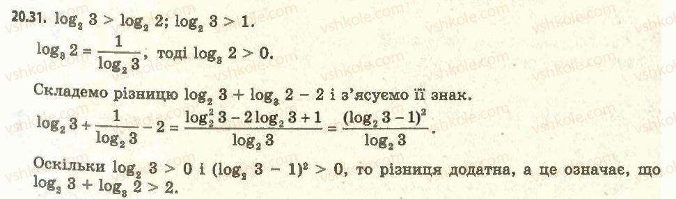 11-algebra-ag-merzlyak-da-nomirovskij-vb-polonskij-ms-yakir-2011-akademichnij-profilnij-rivni--2-pokaznikova-i-logarifmichna-funktsiyi-20-logarifmichna-funktsiya-ta-yiyi-vlastivosti-31.jpg