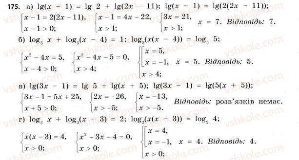 11-matematika-gp-bevz-vg-bevz-2011-riven-standartu--rozdil-1-pokaznikovi-ta-logarifmichni-funktsiyi-5-logarifmichni-rivnyannya-ta-nerivnosti-175.jpg