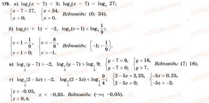 11-matematika-gp-bevz-vg-bevz-2011-riven-standartu--rozdil-1-pokaznikovi-ta-logarifmichni-funktsiyi-5-logarifmichni-rivnyannya-ta-nerivnosti-179.jpg