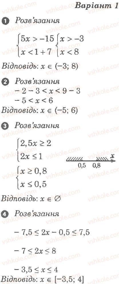 9-algebra-lg-stadnik-om-roganin-2010-kompleksnij-zoshit-dlya-kontrolyu-znan--chastina-1-potochnij-kontrol-znan-samostijna-robota-3-sistemi-linijnih-nerivnostej-В1.jpg