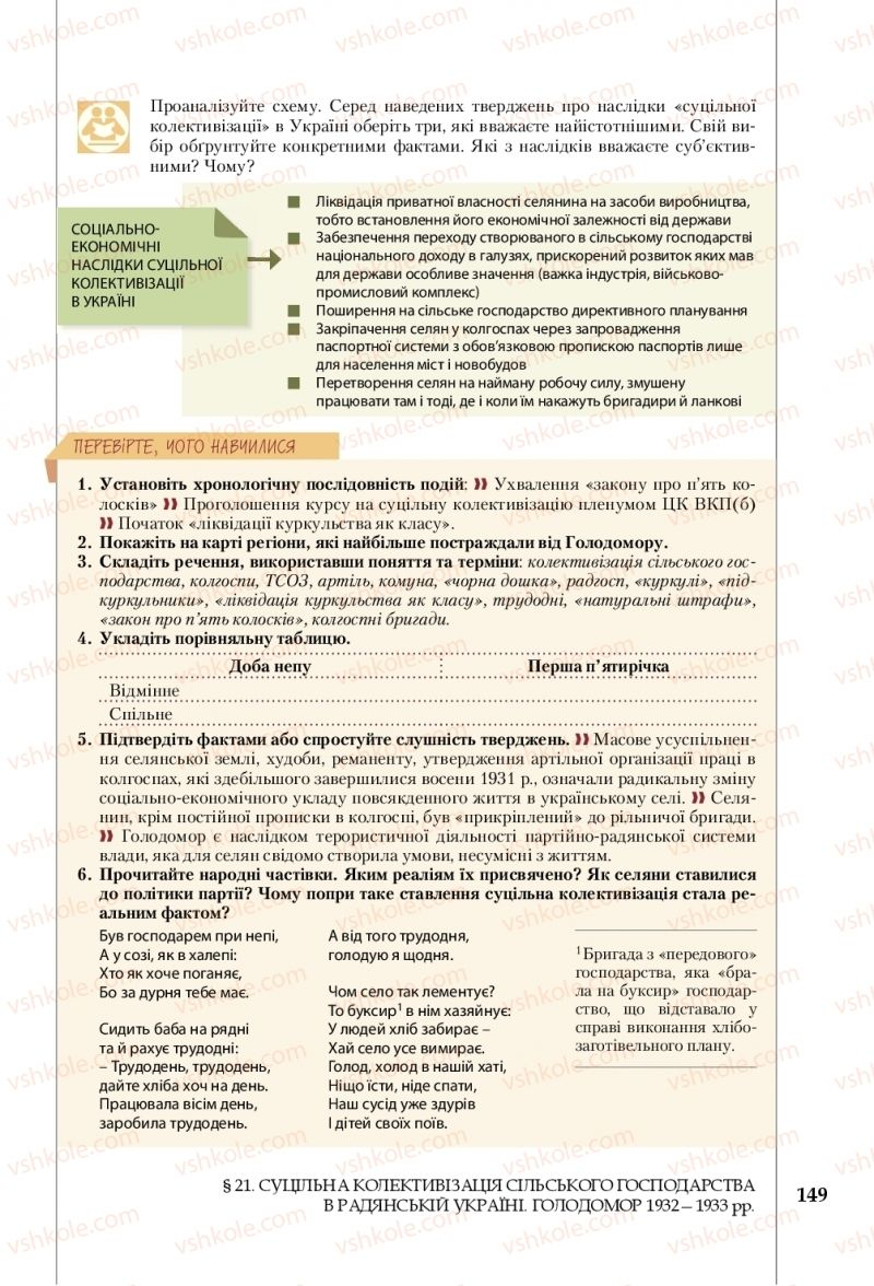 Страница 149 | Учебник Історія України 10 класс В. С. Власов, С. В. Кульчицький 2018 Рівень стандарту