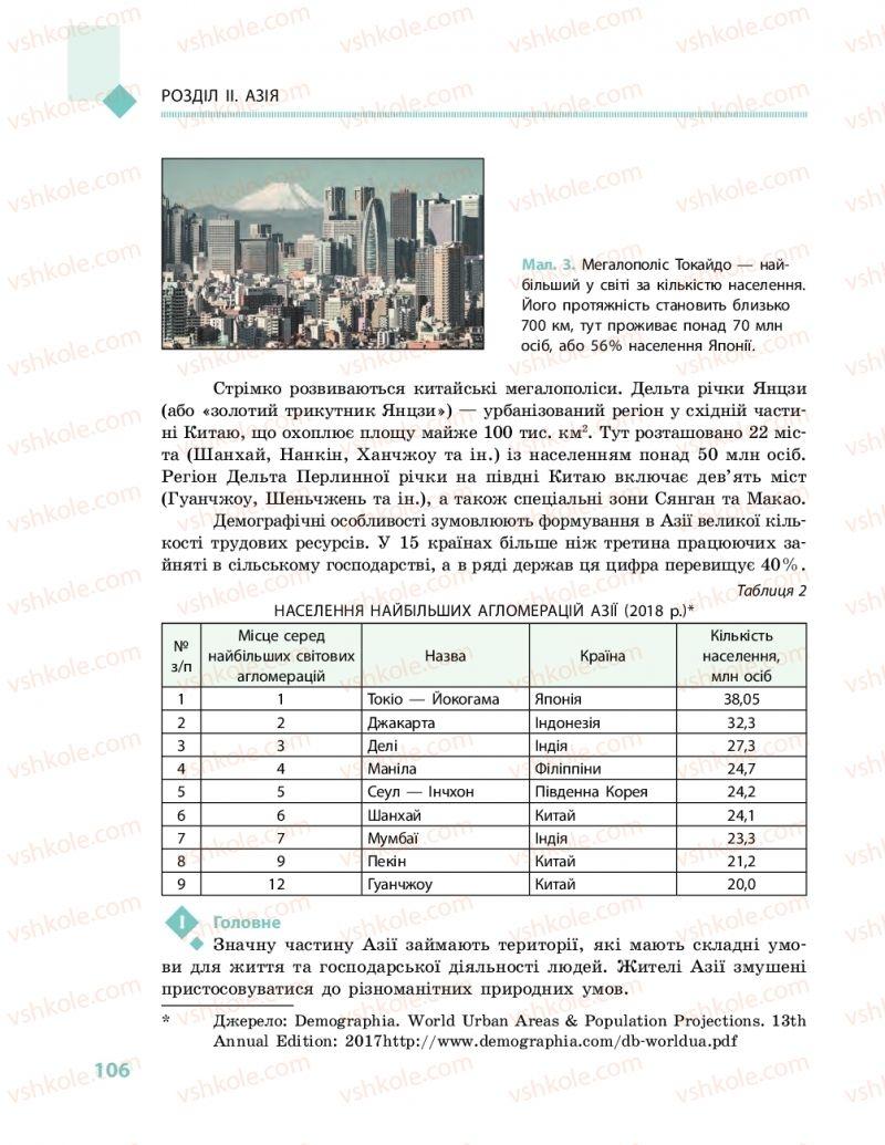 Страница 106   Учебник Географія 10 класс Г. Д. Довгань, О. Г. Стадник 2018 Рівень стандарту