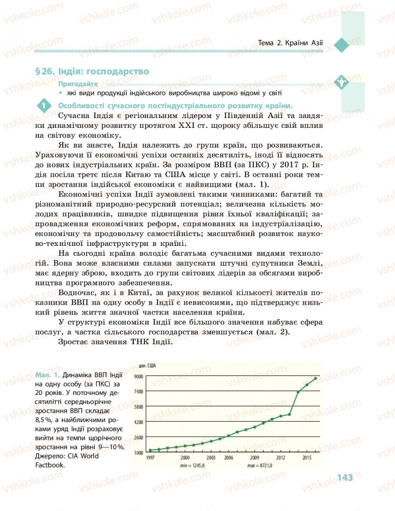 Страница 143 | Учебник Географія 10 класс Г. Д. Довгань, О. Г. Стадник 2018 Рівень стандарту