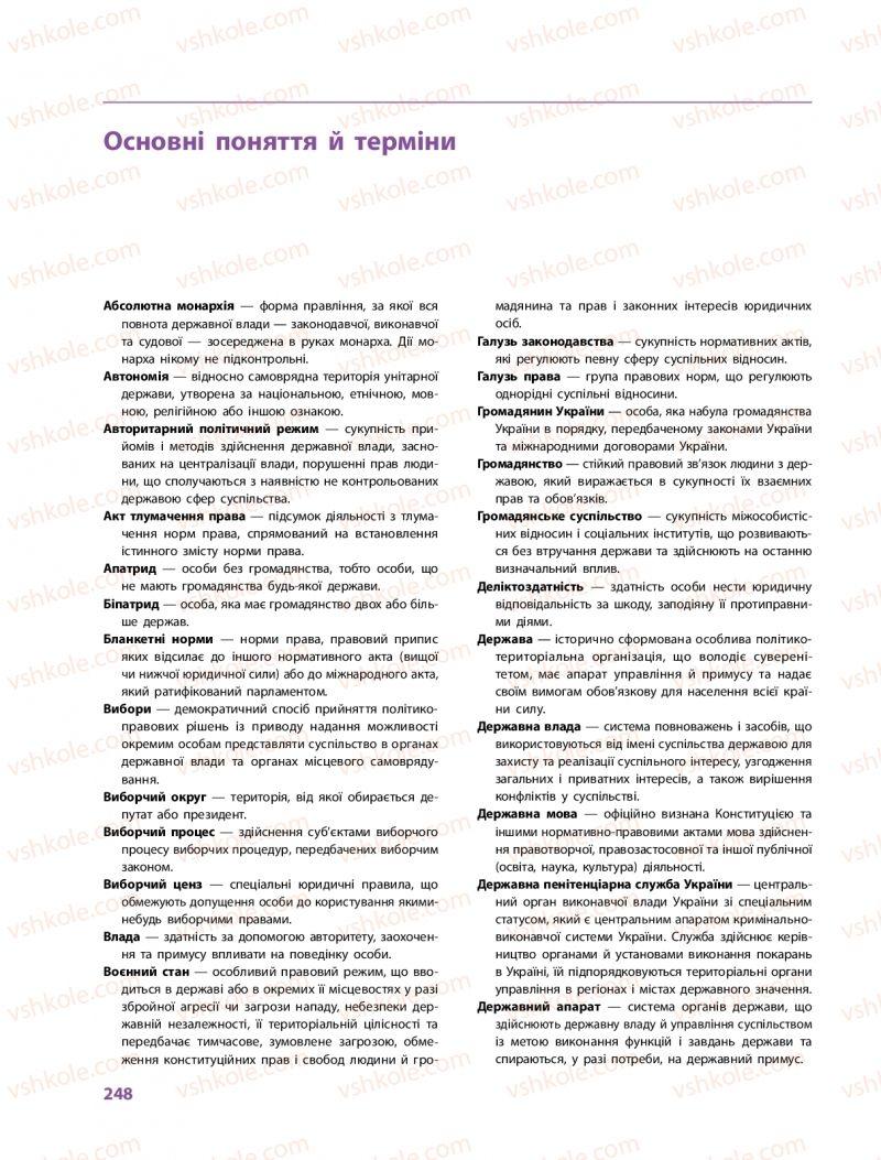 Страница 248 | Учебник Правознавство 10 класс О. М. Лук'янчиков, Д. О. Новіков, К. Ю. Карелов 2018 Профільний рівень