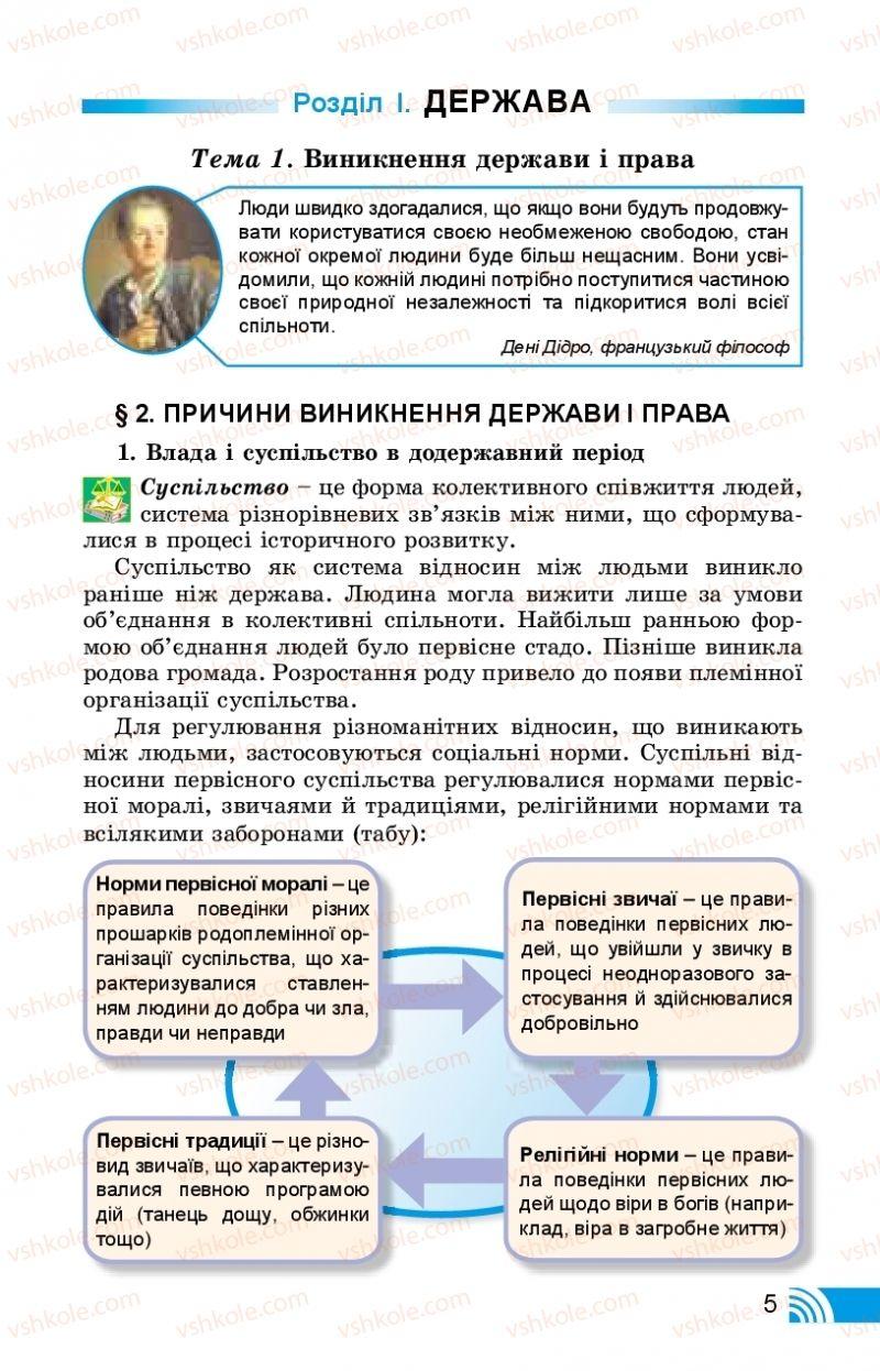 Страница 5 | Учебник Правознавство 10 класс Т. М. Філіпенко, В. Л. Сутковий 2018 Профільний рівень