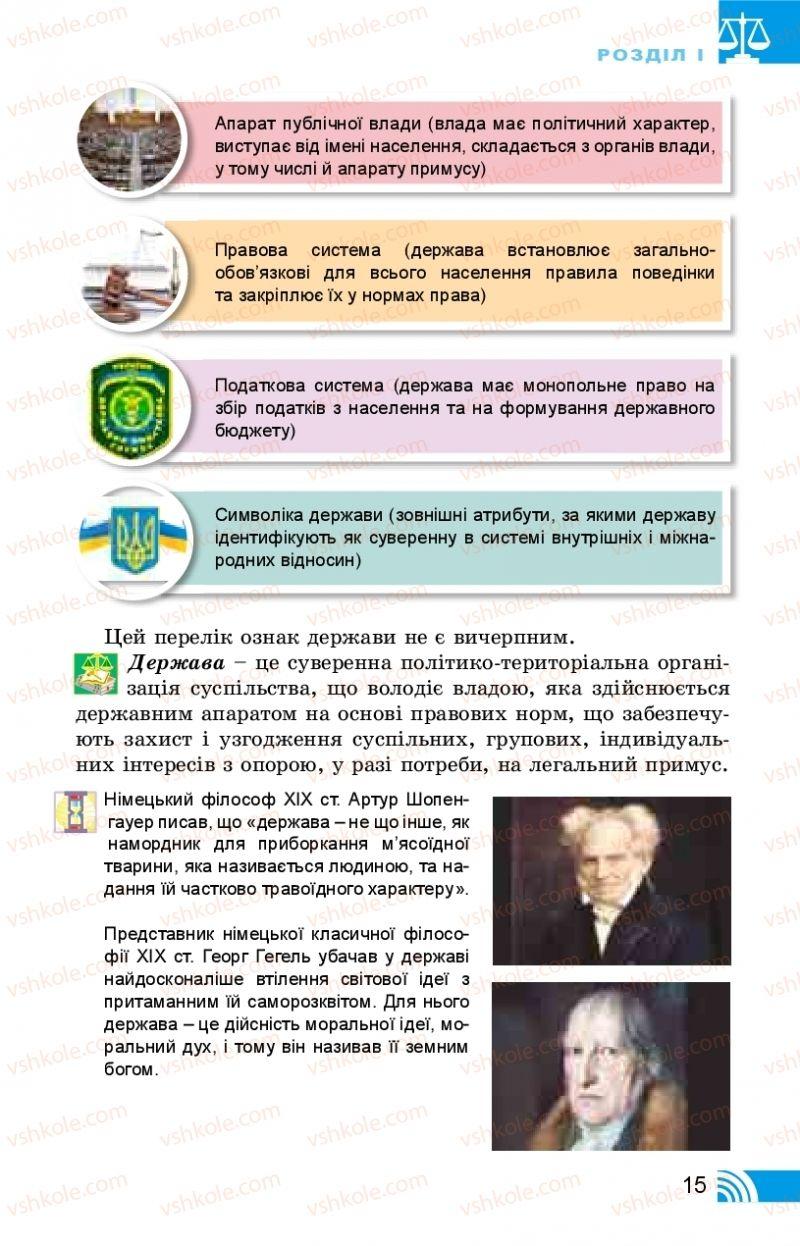 Страница 15 | Учебник Правознавство 10 класс Т. М. Філіпенко, В. Л. Сутковий 2018 Профільний рівень