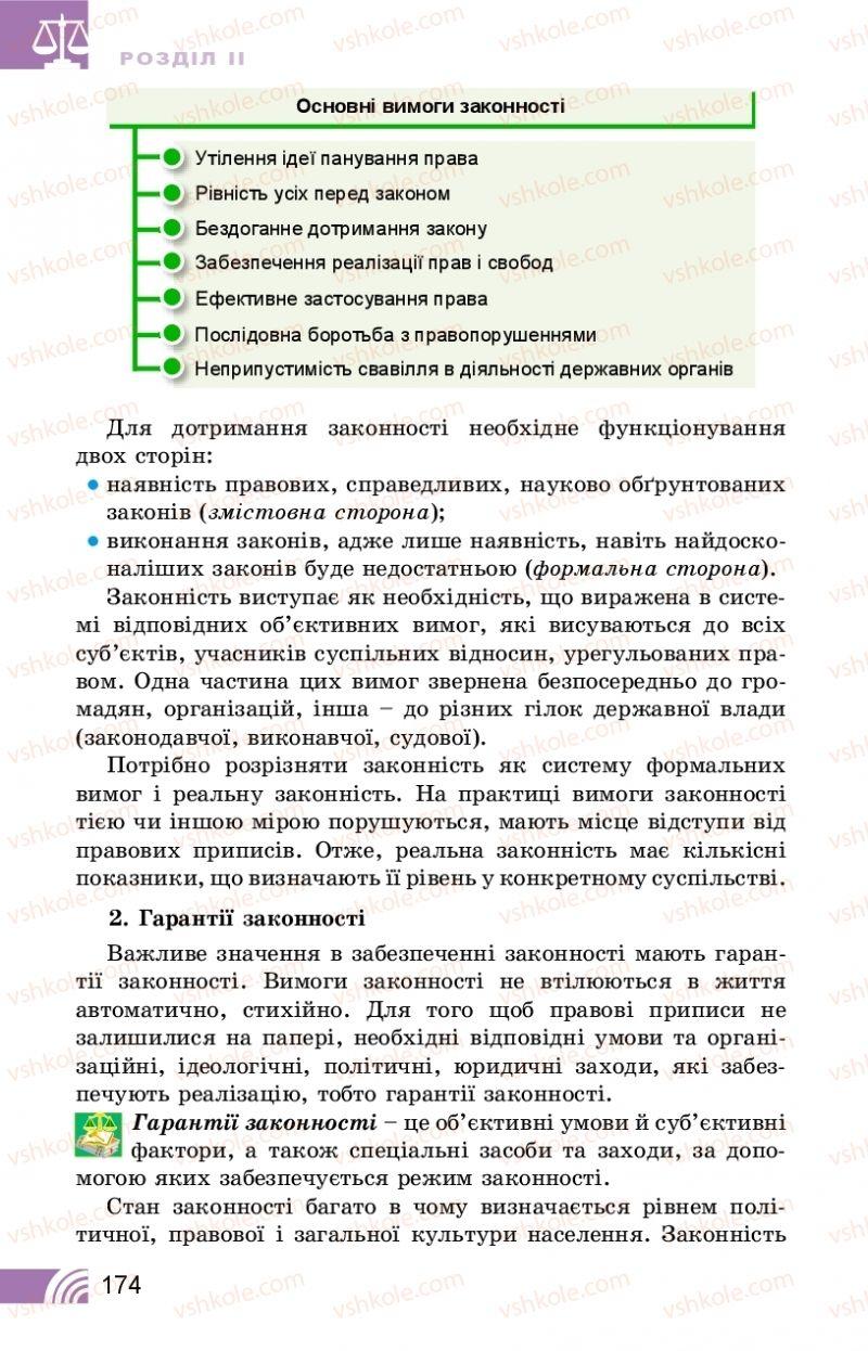 Страница 174 | Учебник Правознавство 10 класс Т. М. Філіпенко, В. Л. Сутковий 2018 Профільний рівень