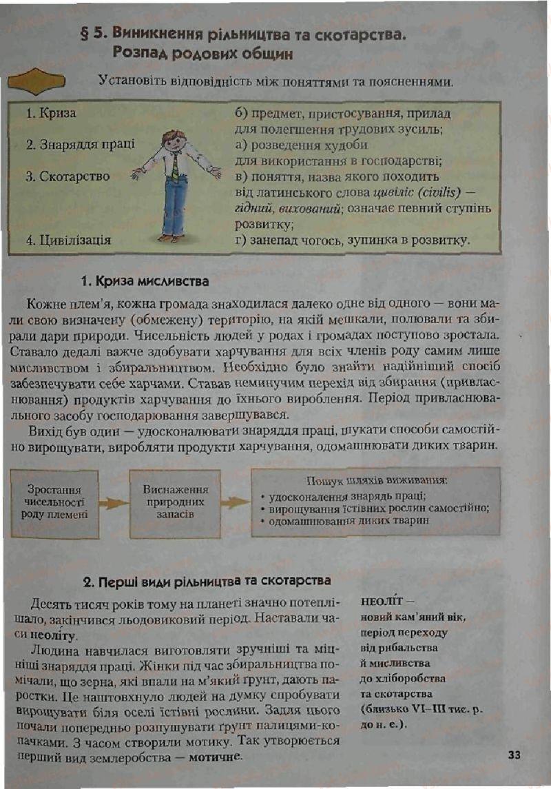 Страница 33 | Учебник Історія 6 класс С.О. Голованов, С.В. Костирко 2006