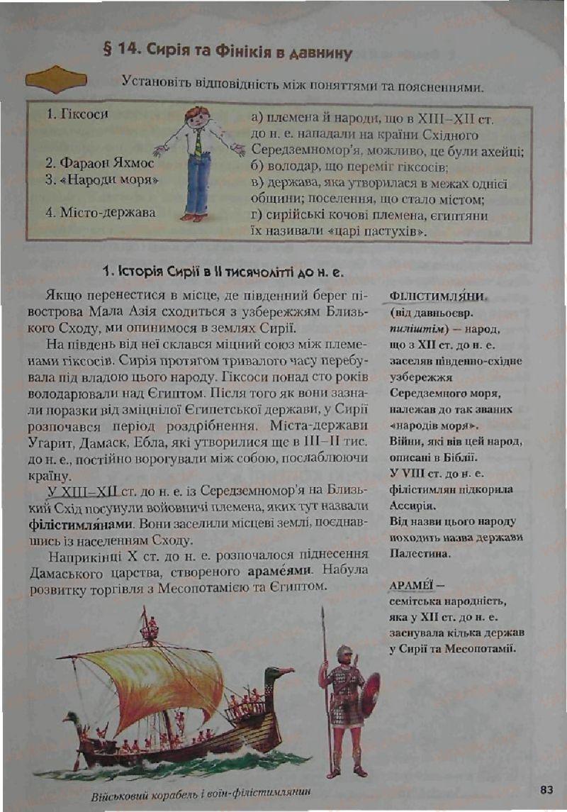 Страница 83 | Учебник Історія 6 класс С.О. Голованов, С.В. Костирко 2006