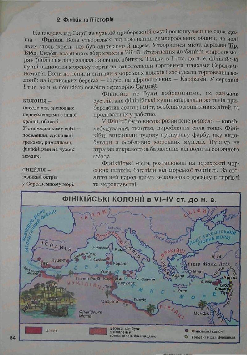 Страница 84 | Учебник Історія 6 класс С.О. Голованов, С.В. Костирко 2006