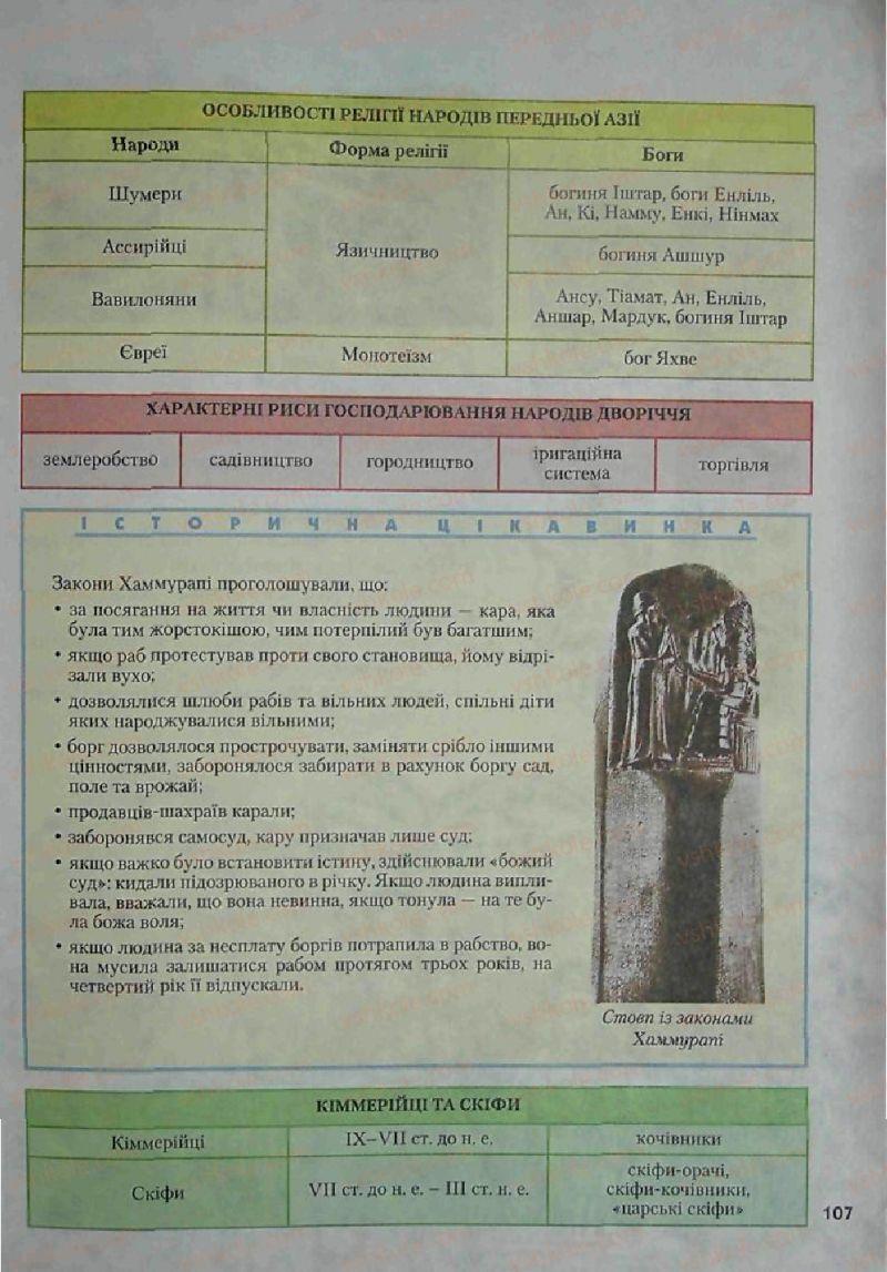 Страница 107 | Учебник Історія 6 класс С.О. Голованов, С.В. Костирко 2006