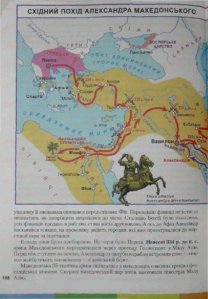 Страница 188 | Учебник Історія 6 класс С.О. Голованов, С.В. Костирко 2006