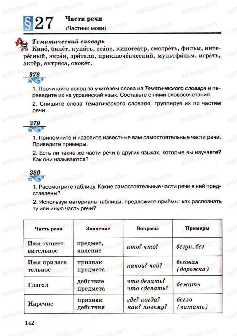 Страница 142 | Учебник Русский язык 5 класс А.Н. Рудяков, Т.Я. Фролова, М.Г. Маркина-Гурджи 2013 Пятый год обучения
