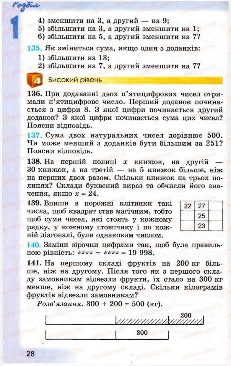 Страница 28 | Учебник Математика 5 класс О.С. Істер 2013