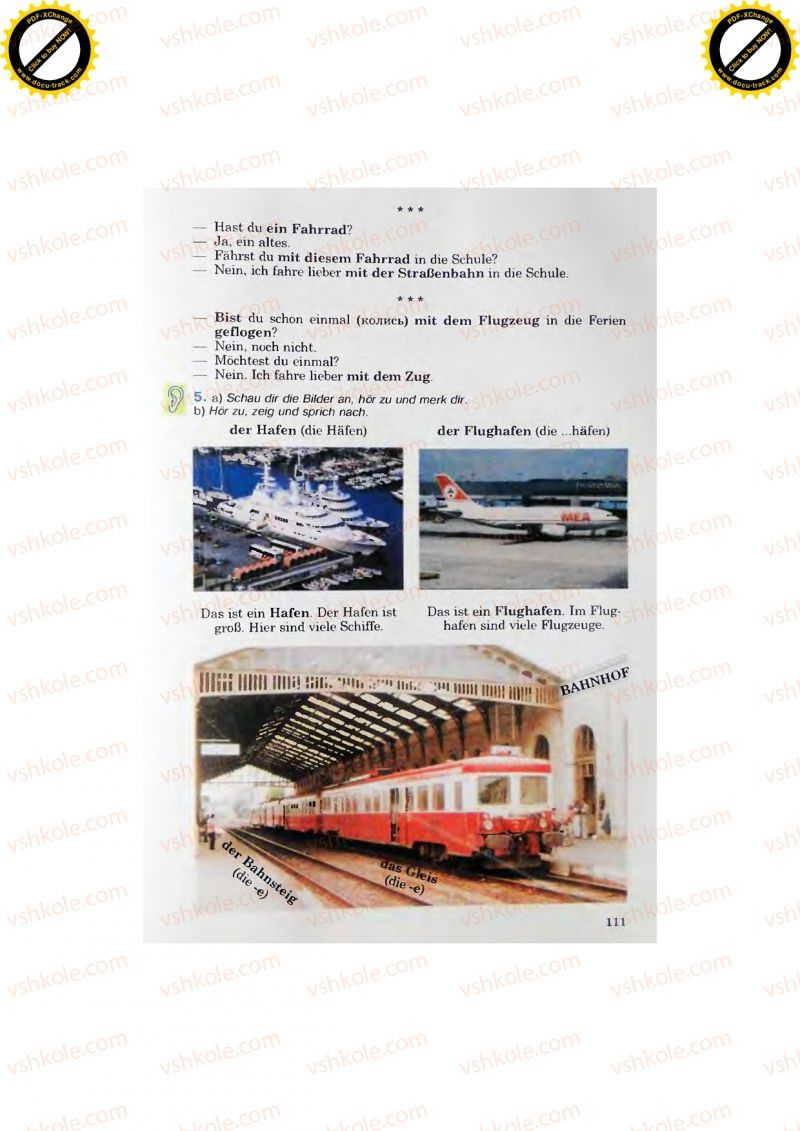 Страница 111 | Учебник Німецька мова 7 класс Н.П. Басай 2011