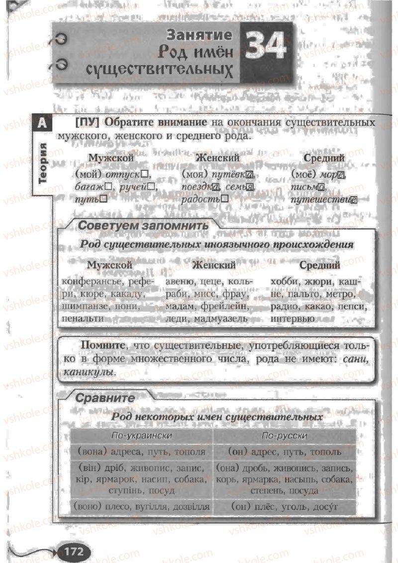 Страница 172 | Учебник Русский язык 6 класс Н.Ф. Баландина, К.В. Дегтярёва, С.А. Лебеденко 2010