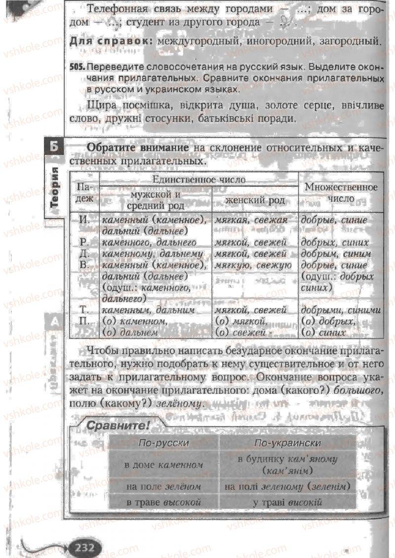 Страница 232 | Учебник Русский язык 6 класс Н.Ф. Баландина, К.В. Дегтярёва, С.А. Лебеденко 2010