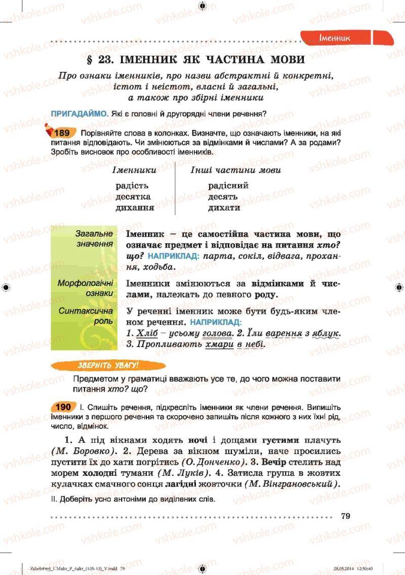 Страница 79 | Учебник Українська мова 6 класс В.В. Заболотний, О.В. Заболотний 2014