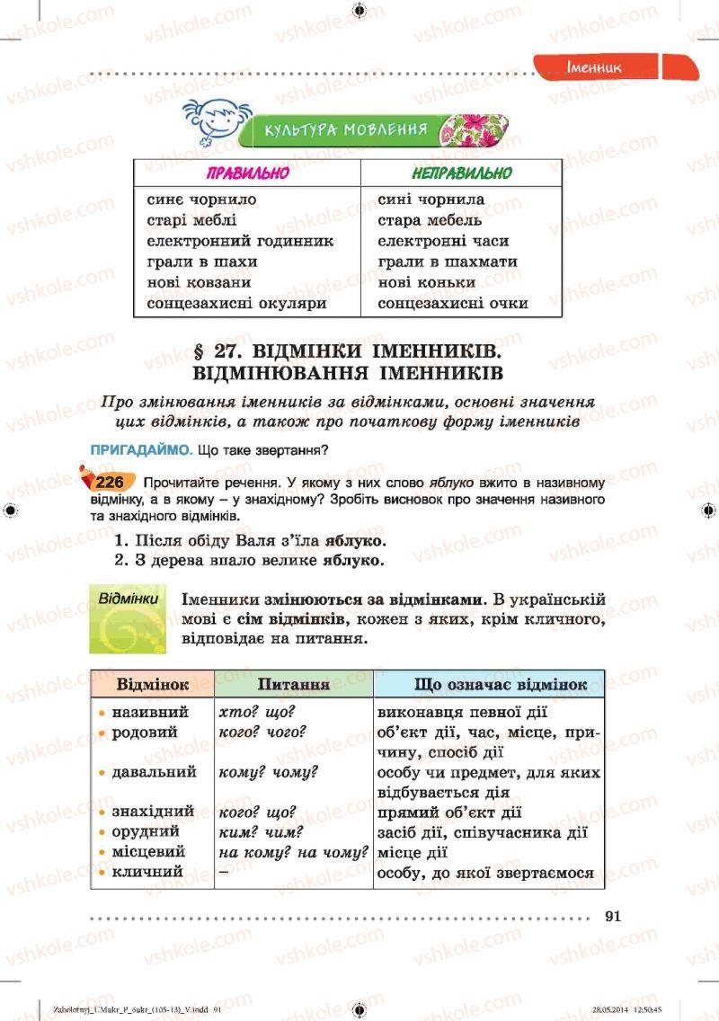 Страница 91 | Учебник Українська мова 6 класс В.В. Заболотний, О.В. Заболотний 2014