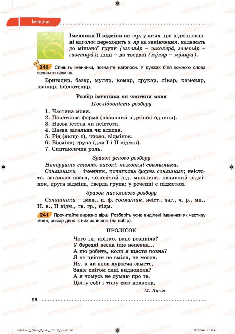Страница 96 | Учебник Українська мова 6 класс В.В. Заболотний, О.В. Заболотний 2014