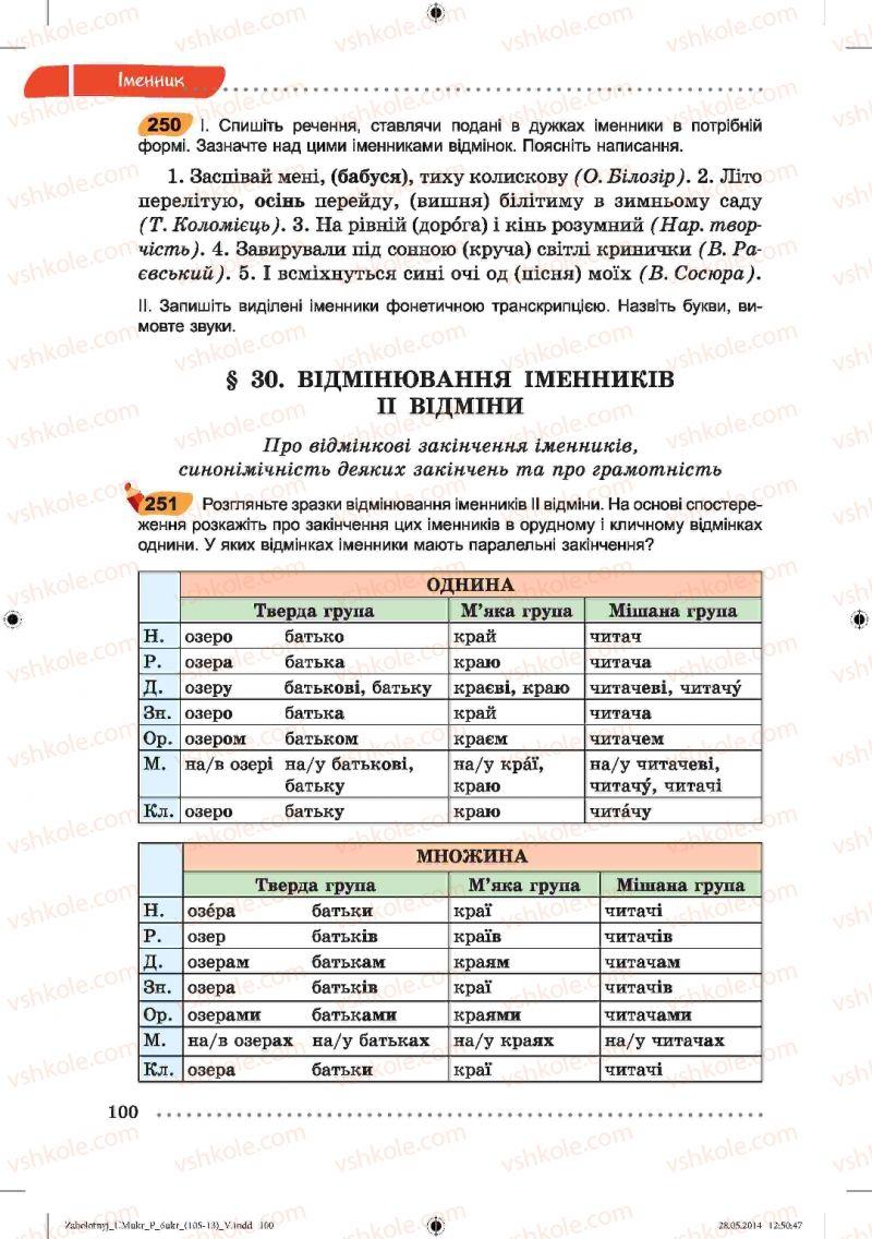 Страница 100 | Учебник Українська мова 6 класс В.В. Заболотний, О.В. Заболотний 2014