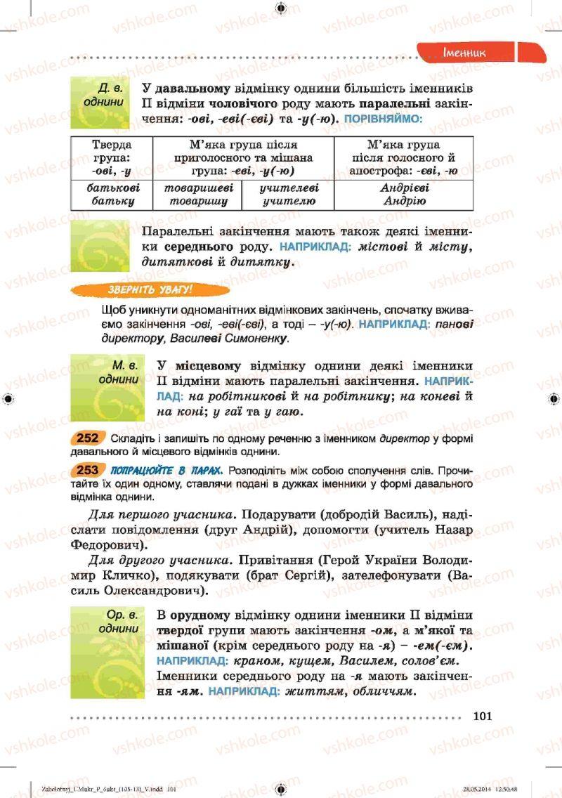 Страница 101 | Учебник Українська мова 6 класс В.В. Заболотний, О.В. Заболотний 2014