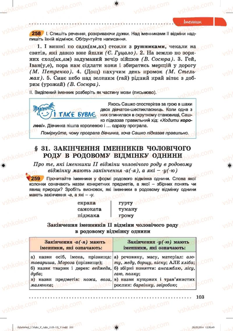 Страница 103 | Учебник Українська мова 6 класс В.В. Заболотний, О.В. Заболотний 2014