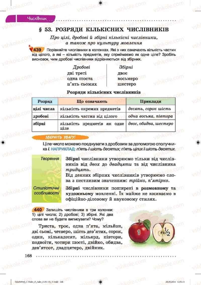 Страница 168 | Учебник Українська мова 6 класс В.В. Заболотний, О.В. Заболотний 2014