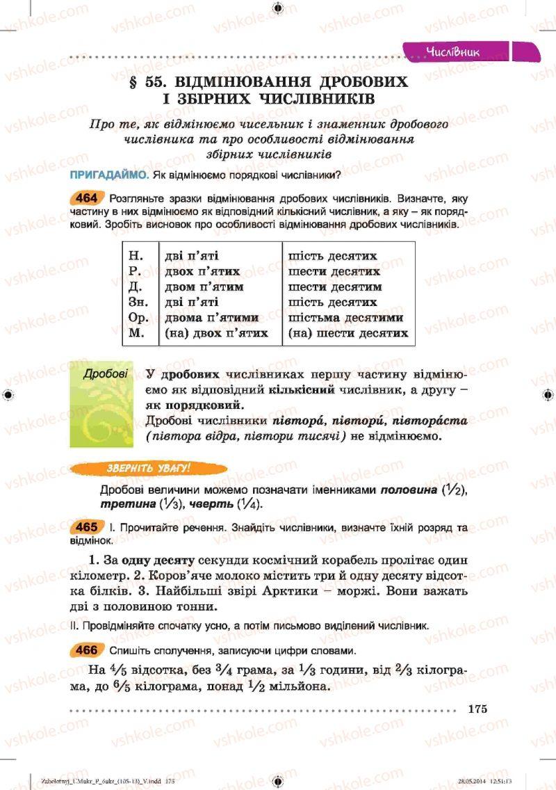 Страница 175 | Учебник Українська мова 6 класс В.В. Заболотний, О.В. Заболотний 2014