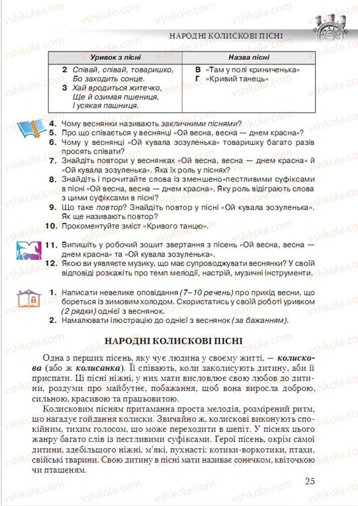 Страница 25 | Учебник Українська література 6 класс О.М. Авраменко 2014