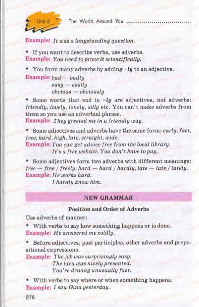Страница 278 | Учебник Англiйська мова 10 класс Л.В. Калініна, І.В. Самойлюкевич 2011 9 рік навчання