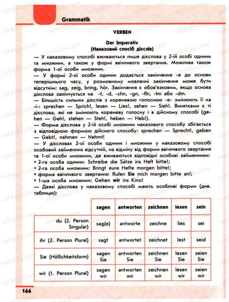 Страница 166 | Учебник Німецька мова 10 класс С.І. Сотникова 2011 Академічний рівень