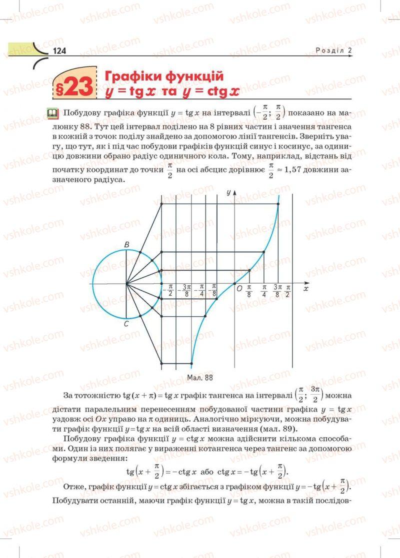 Страница 124 | Учебник Математика 10 класс М.І. Бурда, Т.В. Колесник, Ю.І. Мальований, Н.А. Тарасенкова 2010