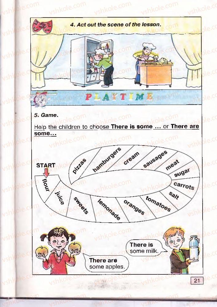 Страница 21   Учебник Англiйська мова 4 класс О.Д. Карп'юк 2004