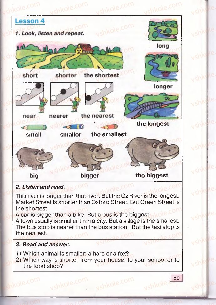 Страница 59 | Учебник Англiйська мова 4 класс О.Д. Карп'юк 2004
