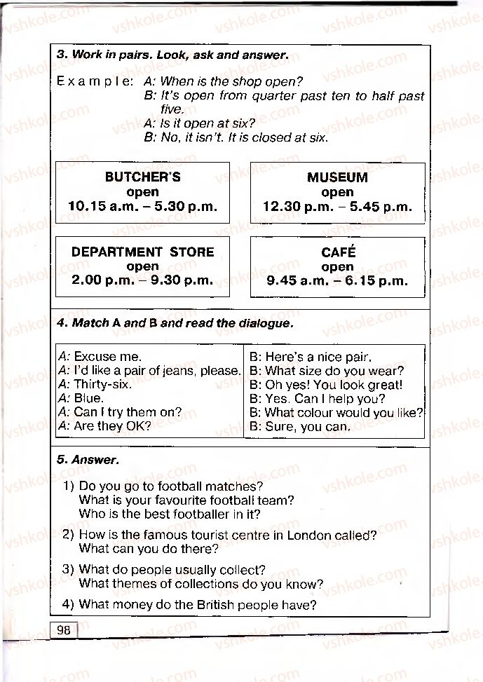 Страница 98 | Учебник Англiйська мова 4 класс О.Д. Карп'юк 2004