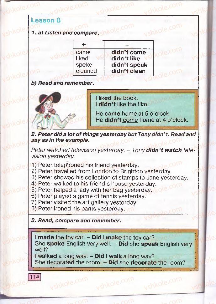 Страница 114   Учебник Англiйська мова 4 класс О.Д. Карп'юк 2004