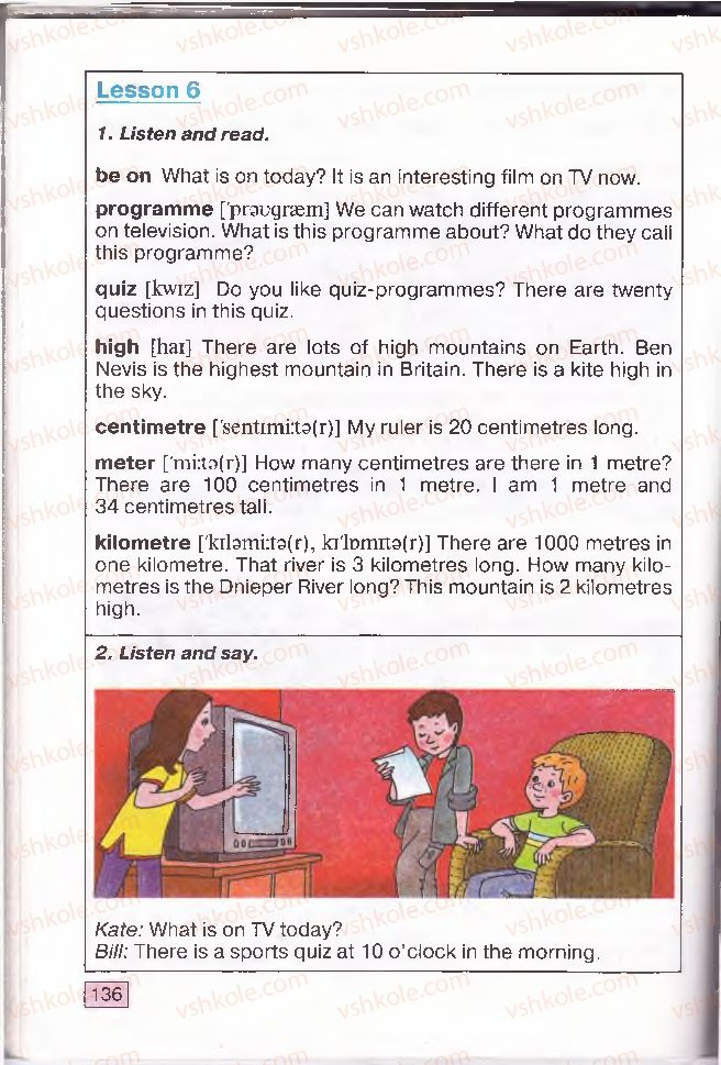 Страница 136 | Учебник Англiйська мова 4 класс О.Д. Карп'юк 2004