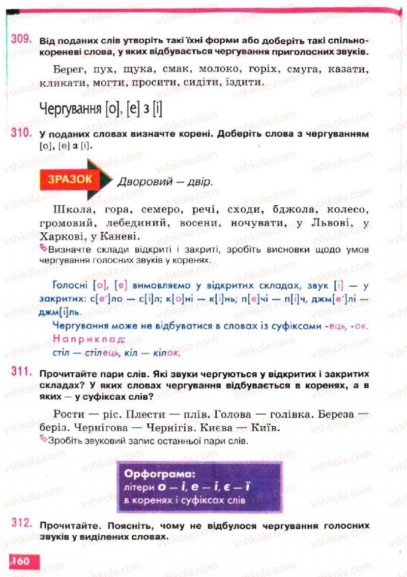 Страница 160 | Учебник Українська мова 5 класс О.П. Глазова, Ю.Б. Кузнецов 2005