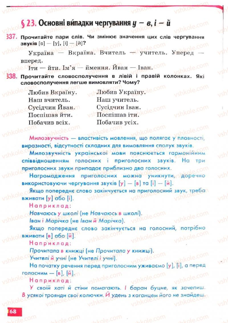 Страница 168 | Учебник Українська мова 5 класс О.П. Глазова, Ю.Б. Кузнецов 2005