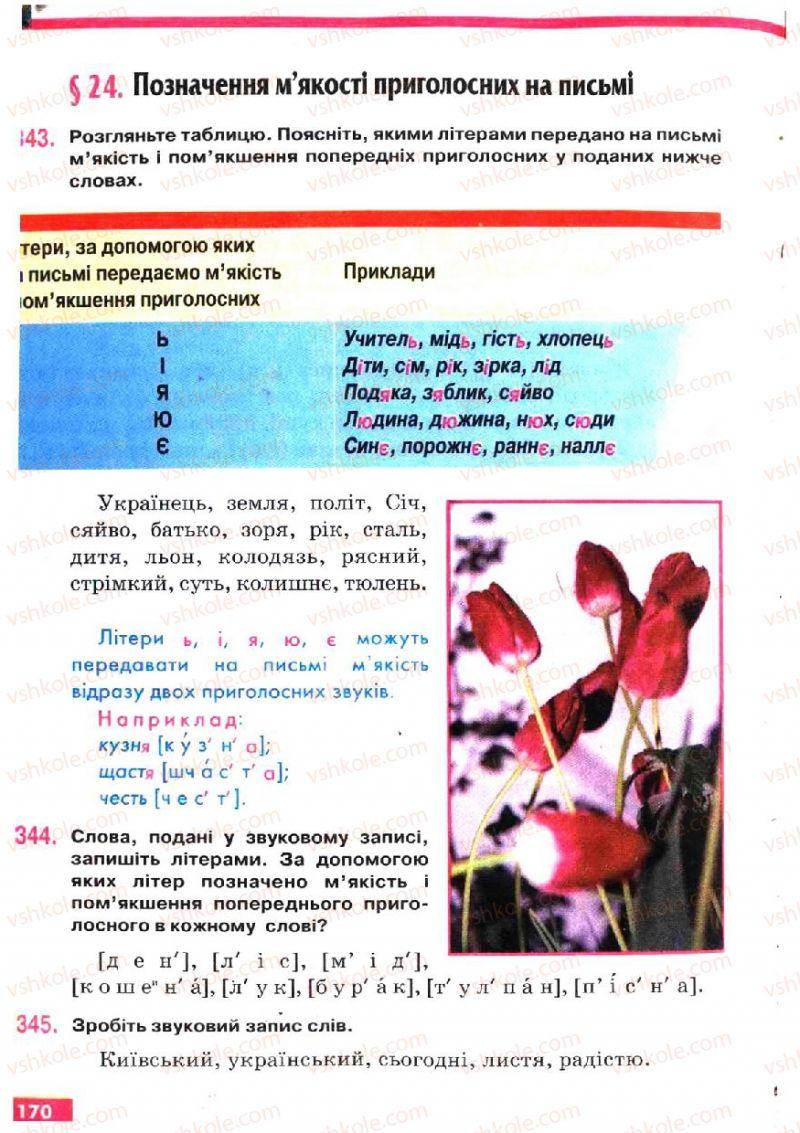 Страница 170   Учебник Українська мова 5 класс О.П. Глазова, Ю.Б. Кузнецов 2005