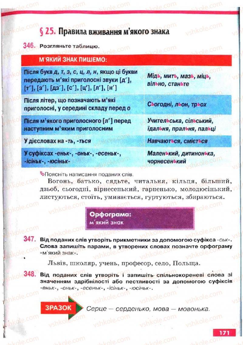 Страница 171 | Учебник Українська мова 5 класс О.П. Глазова, Ю.Б. Кузнецов 2005
