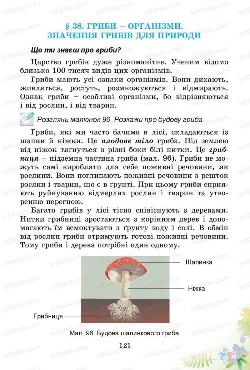 Страница 121 | Учебник Природознавство 3 класс Т.Г. Гільберг, Т.В. Сак 2014