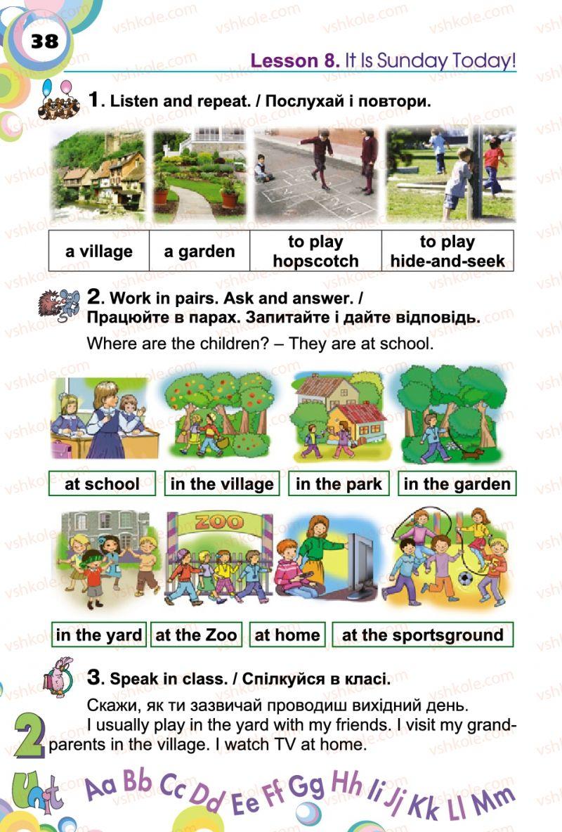 Страница 38 | Учебник Англiйська мова 2 класс А.М. Несвіт 2012