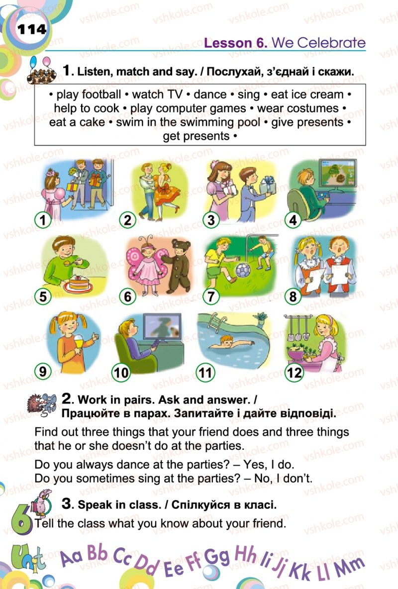 Страница 114 | Учебник Англiйська мова 2 класс А.М. Несвіт 2012
