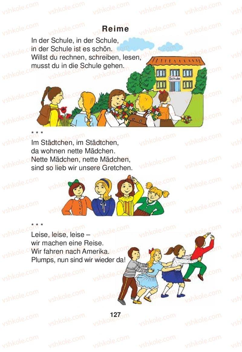 Страница 127 | Учебник Німецька мова 2 класс Я.М. Скоропад 2012