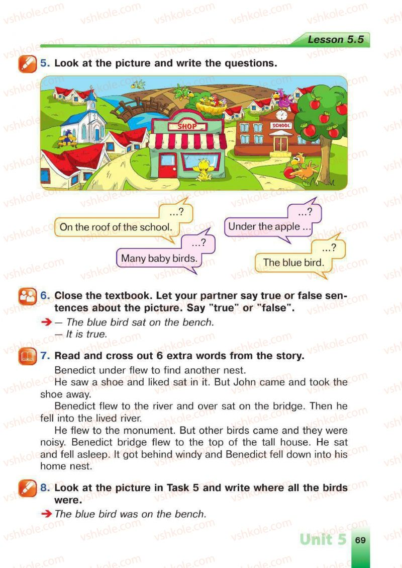 Страница 69   Учебник Англiйська мова 4 класс Н.А. Климишина 2015