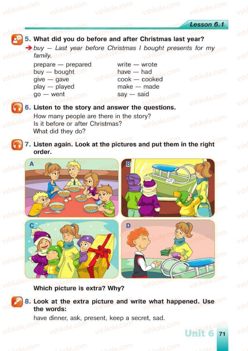 Страница 71   Учебник Англiйська мова 4 класс Н.А. Климишина 2015