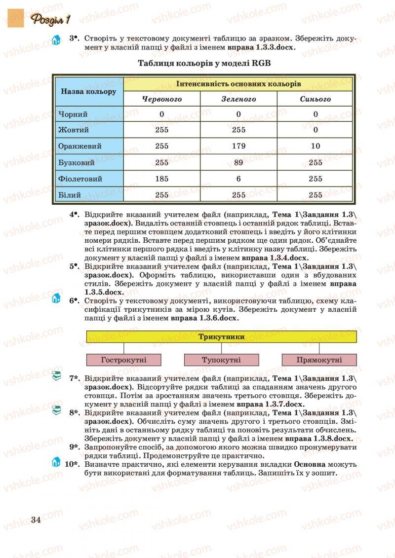 Страница 34 | Учебник Інформатика 10 класс Й.Я. Ривкінд, Т.І. Лисенко, Л.А. Чернікова, В.В. Шакотько 2010 Академічний, профільний рівні